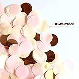 XCOZU 1500 Stück Konfetti Rosa, 1cm Rosegold Konfetti Papier für Hochzeit Valentinstag Tischdeko Geburtstag Party, Rund Seidenpapier Tisch Konfetti für Ballons 30g - 2