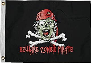 Taylor Made Products Pirate Heads Boat Flags, 12 inch x 18 inch, Printed Nylon