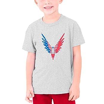Logan Paul Maverick USA Youth Cotton Short Sleeve T Shirt Gray