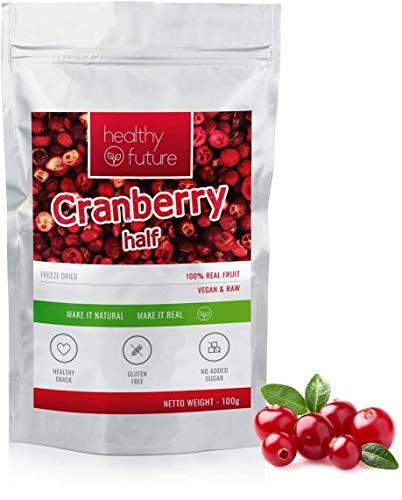 Arándanos liofilizados 100% naturales, sin gluten, sin azúcares añadidos, sin conservantes, merienda de fruta saludable (100g)