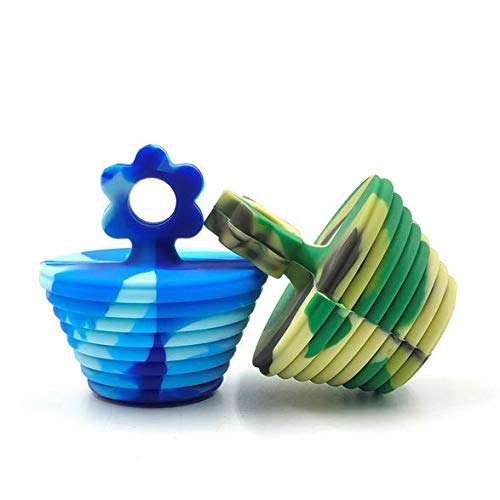 UJLN Tub Stopper - Bathtub Stopper,Silicone Tub Stopper Drain Stopper, Bathtub Plug for Kitchen, Bathroom, Laundry, Shower and Jacuzzi, 2 Pack (Camouflage Blue+Green)