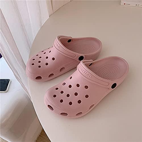 Zapatillas De Casa para Mujer Verano,Xiaki Love Girl Heart Heart Shoes, Estudiantes Femeninas Fashion Anti-Skid Wear Sandals, Playa De Vacaciones JardíN BañO Zapatillas-I 41 (255mm / 10.04')_h