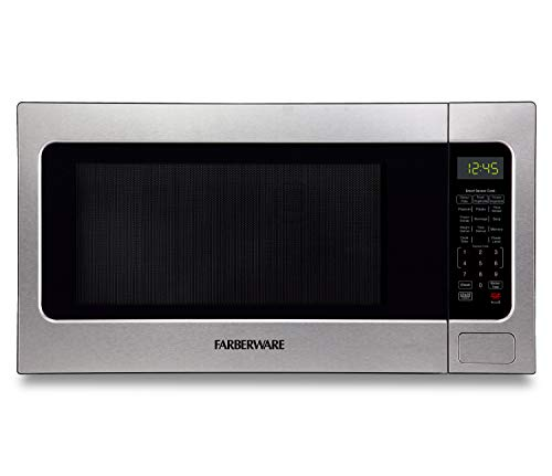 Farberware 2.2 Cu. Ft. 1200-Watt Microwave Oven with Smart Sensor Cooking, ECO Mode and LED Lighting, Stainless Steel
