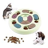 WELLXUNK Juguete de Puzzle para Perros, Alimentador Interactivo para Cachorros, Juego de Inteligencia para Perros, Alimentador Lento para Perros, Cachorros y Gatos, con Antideslizante (Verde)