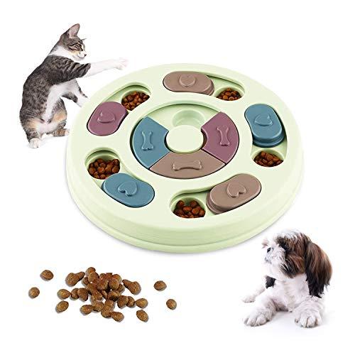 WELLXUNK Giocattolo Puzzle per Cani, Dog Puzzle Feeder, Gioco Rompicapo per Animale Domestico, Giocattolo Interattivo, per Cani, Cuccioli e Gatti, con Antiscivolo (Verde)
