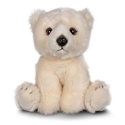 Animigos 37245 Plüschtier Eisbär, Stofftier im realistischen Design, kuschelig weich, ca. 23 cm groß