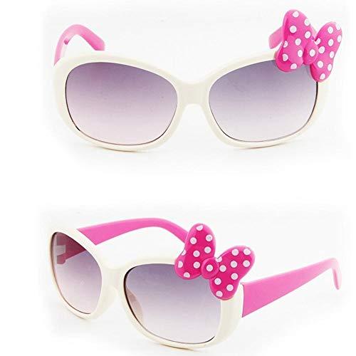 Tingtin Niños Gafas de Dibujos Animados Niños Niñas Gafas de Sol Lindas con Arco Retro Gafas Redondas Clásicas Diseñador Gafas de Sol Estilo de Moda UV400