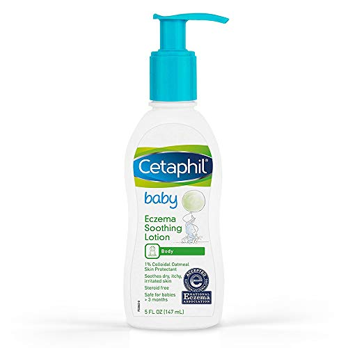 Cetaphil Baby Eczema Soothing Lotion, Colloidal Oatmeal, Paraben Free, Hypoallergenic, Dry Skin, 5 Fluid Ounce
