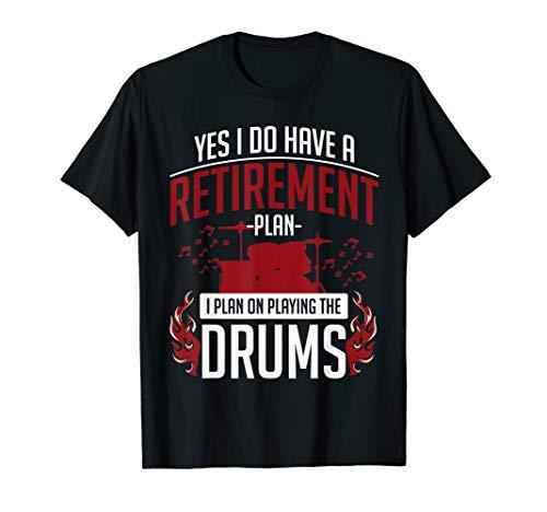 Retired Drummer Drums T-Shirt