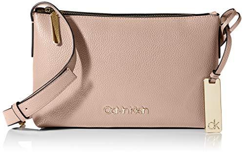 Calvin Klein Damen Neat F19 Ew Xbody Umhängetasche, Pink (Nude), 10.2x25.4x15.2cm