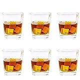 FFFLY Yazhiyuan Juego de Vasos de Whisky de Cristal Transparente sin trastos Juego de 6 Piezas, Vidrio para el hogar, Banquete de Bodas, Taza de Cerveza para Acampar, Seguridad para lavavajillas