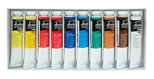 Winsor & Newton Artisan - Juego de 10 Tubos de Aceite mezclable con Agua, 21 ml, Set de Tubos de 21 ml, 21ml, 1