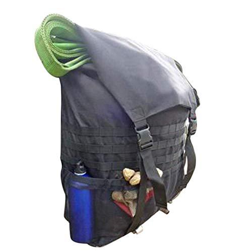 TXYFYP Ersatz Reifen Trash Tasche, Wasserfest 900D Oxford Tragbar Aufbewahrungsbox Reifen Trash Tasche für Außen Camping und Große Entfernungen Fahrrad - Schwarz, Free Size