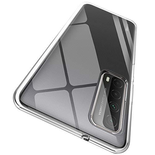 "ORNARTO Durchsichtig Kompatibel mit Huawei P Smart 2021 Hülle, Transparent TPU Flexible Silikon Handyhülle Schutzhülle Hülle für Huawei P Smart 2021 (2020) 6,67""-Klar"
