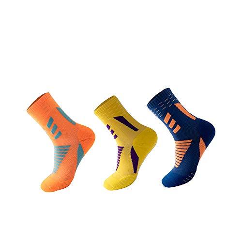 Calcetines deportivos antideslizantes para hombre y mujer se utilizan para fútbol, baloncesto, correr y otros deportes. Transpirable, absorbe el sudor, antifricción. 3 paquetes. 38-44. Talla única