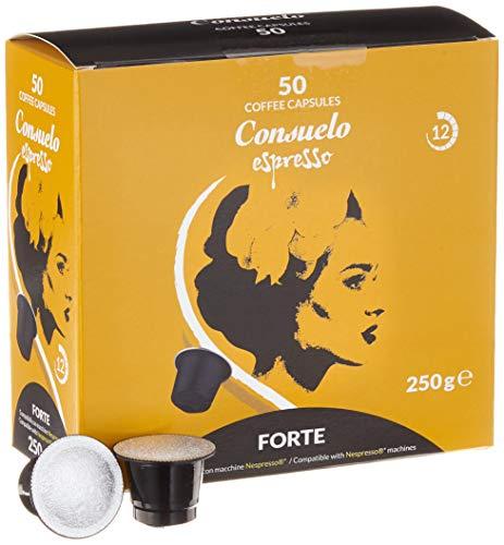 Consuelo Nespresso* Compatible Espresso Capsules - Forte, 50 capsules
