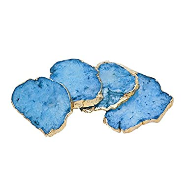 Godinger Silver Art Blue Quartz Csrts Brs Edge Set of 4