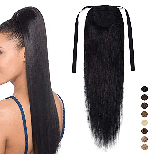 14' Human Hair Ponytail Extension 100% Remy Real Wrap Aronud Tie Up Binding...