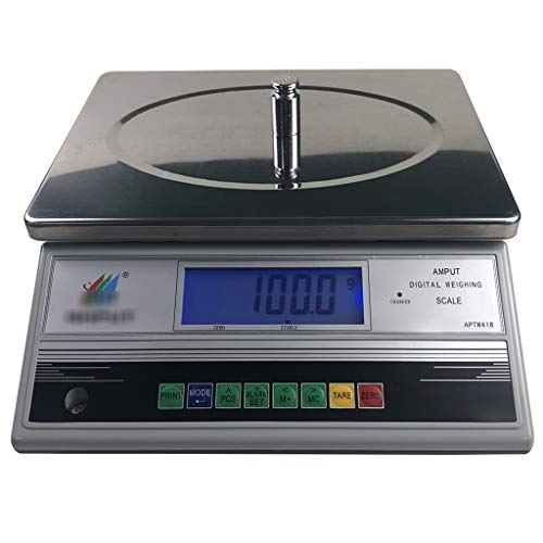 LICHUXIN Alta precisión Básculas Cocina Contando Escala Comercial electrónica Peso Balanza Dedicado Escala sobremesa Pantalla LCD Digital for pesaje exprés Postal Frutas y Verduras (Size : 6kg/0.1g)