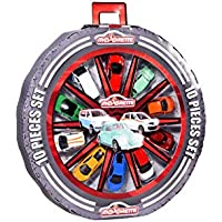 Majorette Rueda con 10 Coches de Metal de 7,5cm (Escala 1:64) 1158591 Pack vehículos de Juguete, Multicolor (1158591)