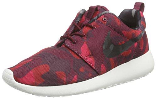 Nike Roshe One Print, Women's Low-Top Sneakers, Deep Garnet/Black/Gym Red/Verry Berry, 3 UK