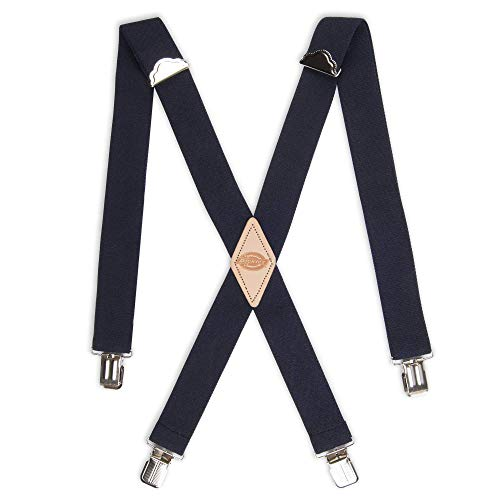 Dickies Men's 1-1/4 Solid Straight Clip Suspender, Navy, One Size