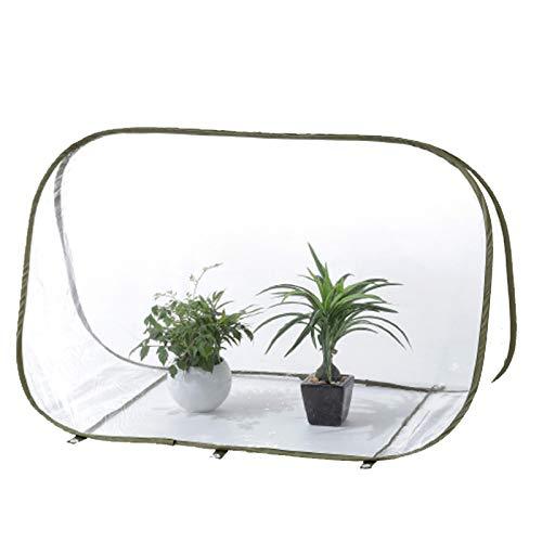Gardening Tools Invernadero de Plantas Plegable de Mini Carpa de PVC emergente, Invernadero portátil a Prueba de Agua y frío, balcón, Invernadero, Invernadero, toldo Transparente Triangular pequeño