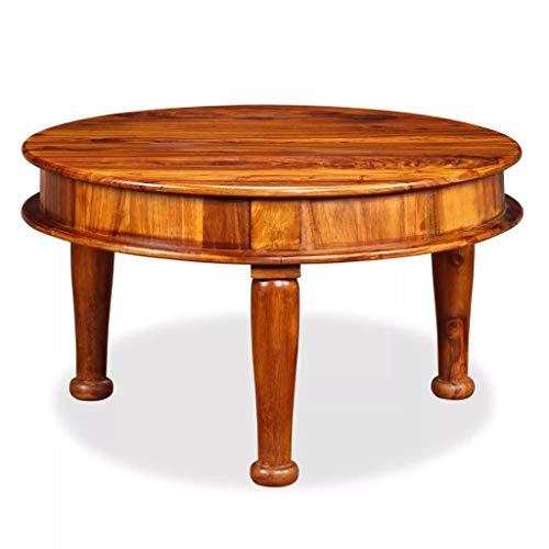 vidaXL Sheesham-Holz Massiv Couchtisch Antik Beistelltisch Wohnzimmertisch Kaffeetisch Sofatisch Teetisch Tisch 70x70x40cm Palisander
