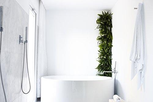 Minigarden Corner Column Per 8 Piante, Giardini Casalinghi Angolari, Modulare E Espandibile, Kit Di Irrigazione A Goccia Incluso, Posizionato Sul Pavimento O Fissato Al Muro (Bianco)