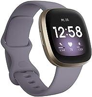 Fitbit Versa 3 - Gesundheits- & Fitness-Smartwatch mit GPS, kontinuierlicher Herzfrequenzmessung, Sprachassistent und...