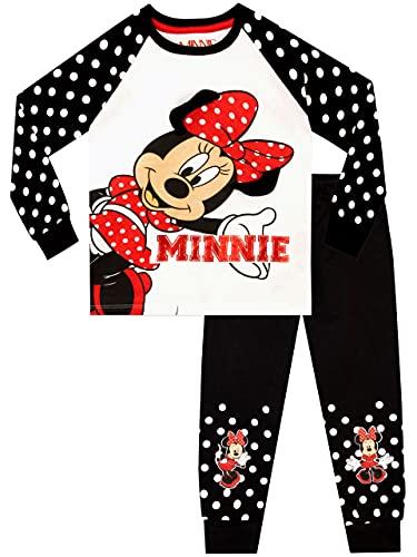 Disney Pijamas de Manga Corta para niñas Minnie Mouse Blanco 6-7 Años