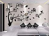 ENCOFT Vinilos Arbol Rojo Pegatinas de Pared 1.75 * 2.3 m Murales Pared 3D para Sala de Estar Dormitorio Decorativo Hogar(L, negro)
