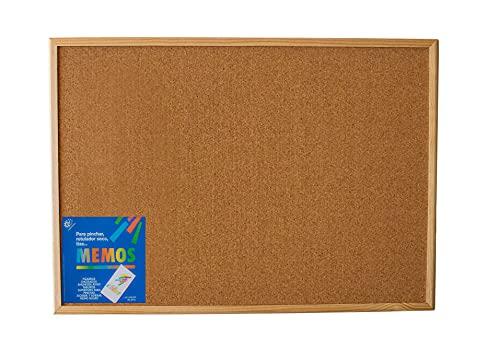 Tablero de corcho con marco de madera (50X70) - Tablón de anuncios y notas para pared