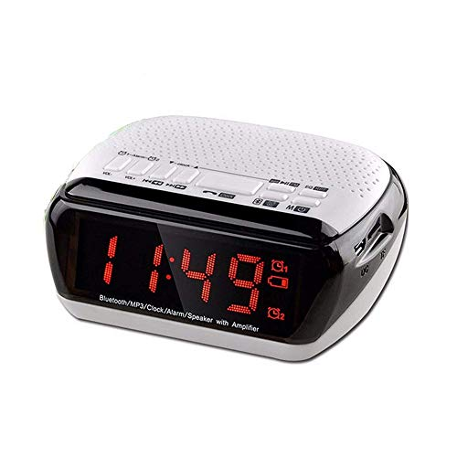 Purchase Wireless Bluetooth Speaker with LED Alarm Clock, Digital Multi Function LCD Alarm Clock Spe...
