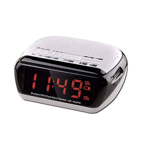 Purchase Wireless Bluetooth Speaker with LED Alarm Clock, Digital Multi Function LCD Alarm Clock Spe...