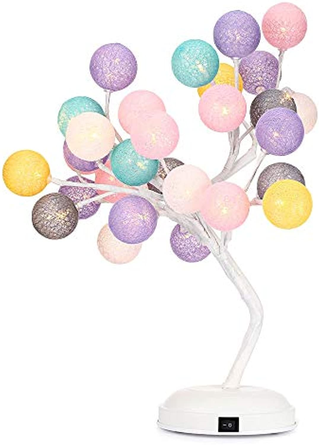 LIULINUIJ New Woven Ball Tree Branches Night Light Indoor Decoration For Wedding Party Adjustable Bendable Creative Indoor Light