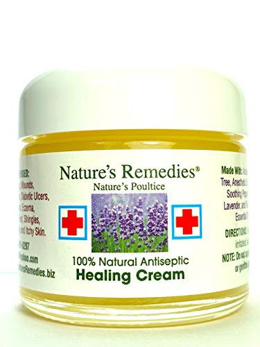 100% Natural Antiseptic Healing Cream: Dr. Recommended, 5X Faster Healing, Wounds, Infected Skin, Bed Sores, Diabetic Ulcers, Neuropathy, Burns, Eczema, Psoriasis, Itchy Skin, Res Q Ointment 2 oz.