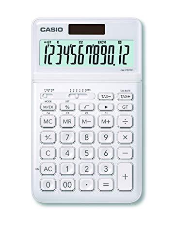 CASIO Tischrechner JW-200SC, 12-stellig, in stylischen Farben, Steuerberechnung, Solar-/Batteriebetrieb