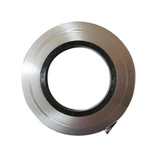 Tira de níquel puro, tira de níquel, tira de níquel de 10 m (1 rollo) para batería, cinta de soldadura por puntos (tamaño: 0,1 x 4 mm/0,1 x 5 mm/0,1 x 6 mm/0,1 x 8 mm/0,15 x 7 mm/0,15 x 8 mm)