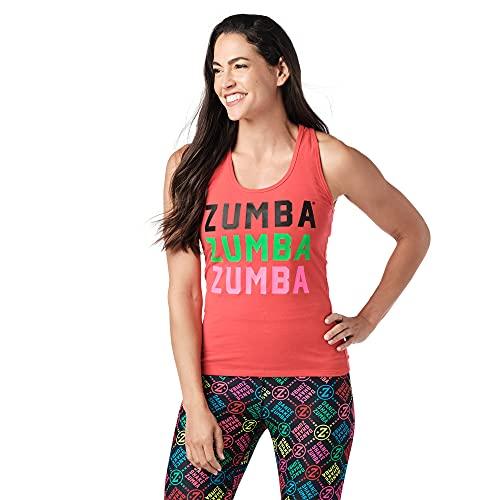Zumba Dance Fitness Atmungsaktive Tank Workout Racerback Sportkleidung Damen, Red Smiles, XXL