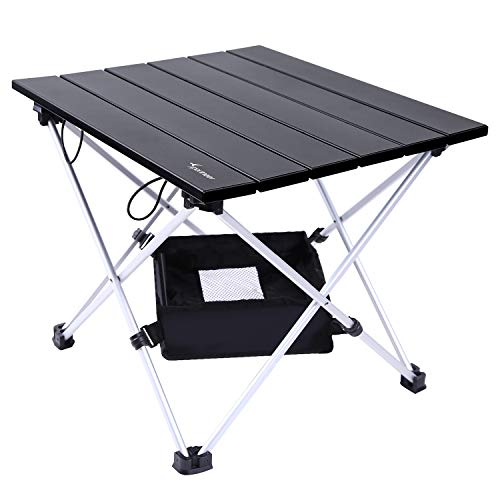 Sportneer Portable Camping Table, Lightweight Folding Table with Aluminum Table...