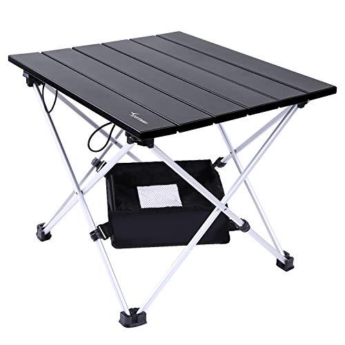 Sportneer Tragbar Klapptisch, Aluminium Campingtisch Ultra Leichte mit Tasche, Leicht zu tragen, klappbar Tisch Präfekt für Camping Picknick Kochen Garten Wandern Reisen (M)