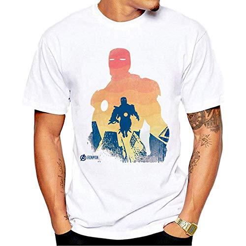 Miwaimao Kurzarm T-Shirt Druck Loose Movie Hero Stilvoll und Bequem Elastisch Atmungsaktiv Sommer Lose T-Absorbent Hip-Hop Sportswear Gr. XS, Xh785