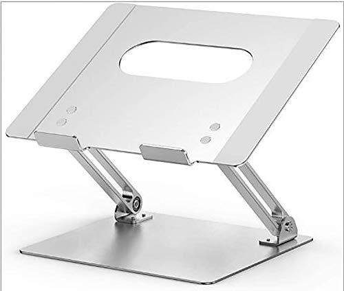 Soporte para ordenador portátil, ajustable, multiángulo/orificio de refrigeración (hasta 17 pulgadas), se puede utilizar para ordenadores portátiles, tabletas, etc., plateado, A (10 ~ 39,6 cm)