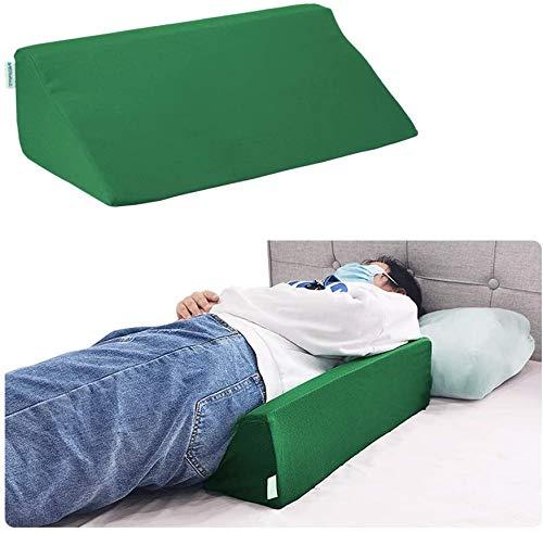 Cuscino con cuneo per dormire in schiuma inclinata cuscino di posizionamento del letto cuneo per adulti, dormiente laterale, pancia per gravidanza, schiena