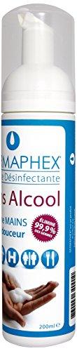 Dermaphex - Espuma desinfectante para manos sin alcohol, 200 ml