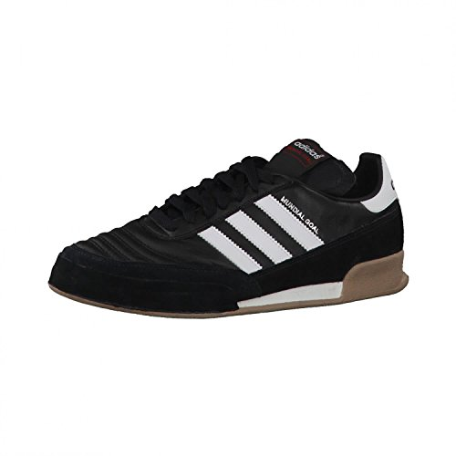 adidas Mundial Goal Herren Fußballschuhe, Schwarz (Black 1/running White/running White), 42 EU