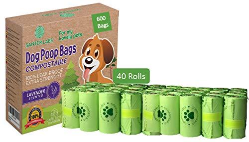 SANTER LABS 600 Bolsas Biodegradables Compostables Excrement