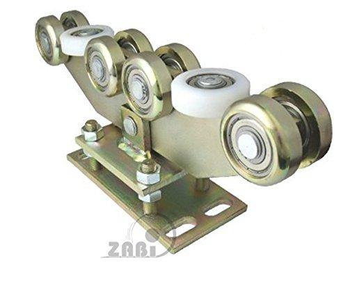 ZAB-S Laufwagen (Code:WR-10M-80/4) Laufrolle Profilmaße:80x80x4 Gartentor Schiebetor Rolltor (WR-10M-80/4)