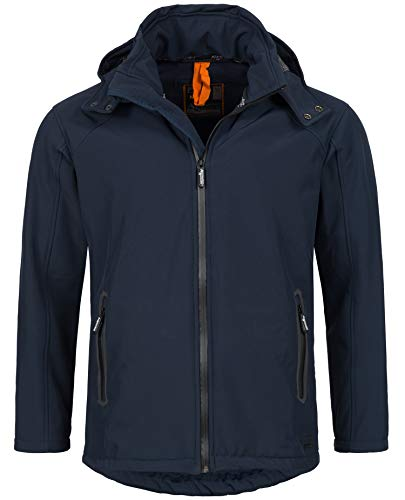 A. Salvarini Herren Softshell Funktions Outdoor Regen Jacke Sport Freizeitjacke AS098 (Gr.M, Navy)